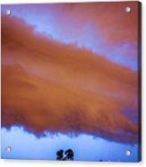 Developing Nebraska Night Shelf Cloud 016 Acrylic Print