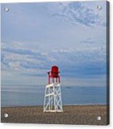 Devereux Beach Lifeguard Chair Info Board Marblehead Ma Acrylic Print