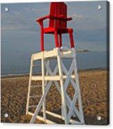 Devereux Beach Lifeguard Chair Marblehead Ma Acrylic Print