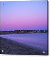 Devereaux Beach Marblehead Ma At Dusk Acrylic Print