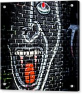Devil Face Graffiti Acrylic Print