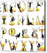 Devilish Alphabet Acrylic Print