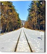 Devil's Lake Railroad Acrylic Print