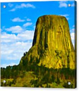 Devils Tower Acrylic Print