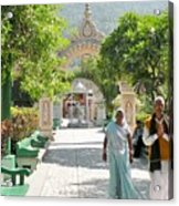 Devotees In Rishikesh India Acrylic Print