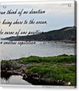 Devotion By Poet Robert Frost Acrylic Print