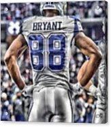 Dez Bryant Cowboys Art 2 Acrylic Print