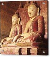 Dhammayangyi Temple Buddhas Acrylic Print
