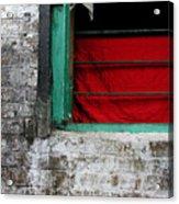 Dharamsala Window Acrylic Print