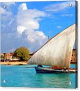 Dhow Off Zanzibar Acrylic Print