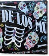 Dia De Los Muertos Banner  Acrylic Print