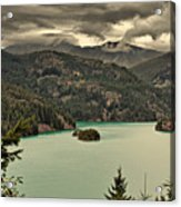 Diablo Lake - Le Grand Seigneur Of North Cascades National Park Wa Usa Acrylic Print