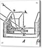 Diagram Showing Refraction, Kepler, 1611 Acrylic Print