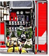 Dials And Hoses On Fire Truck Acrylic Print