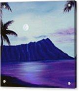 Diamond Head Moon Waikiki #34 Acrylic Print