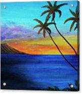 Diamond Head Sunrise #327 Acrylic Print