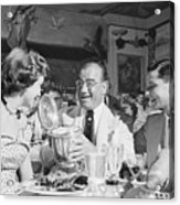 Diamond Jim Moran, Entertaining Guests At His Restaurant In New  Acrylic Print