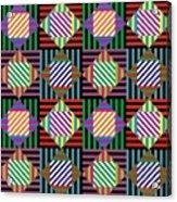 Diamond Quilt 2 Acrylic Print
