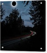Diamond Ring Solar Eclips Over Route 66 By Adam Asar 3 Acrylic Print