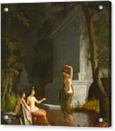 Diana At The Fountain Acrylic Print