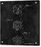 Dice Cube Patent Acrylic Print