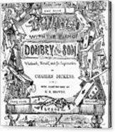 Dickens: Dombey And Son Acrylic Print