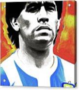 Diego Maradona By Nixo Acrylic Print