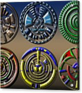 Digital Art Dials Acrylic Print