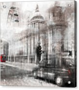 Digital-art London Composing Acrylic Print