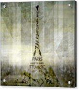 Digital-art Paris Eiffel Tower Geometric Mix No.1 Acrylic Print