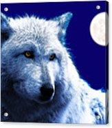 Digital Art Wolf Poster Acrylic Print