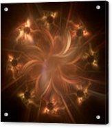 Digital Daisy Gold Acrylic Print