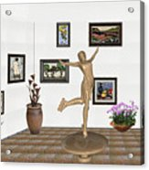 digital exhibition _ A sculpture of a dancing girl 11 Acrylic Print