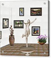 digital exhibition _ A sculpture of a dancing girl 12 Acrylic Print