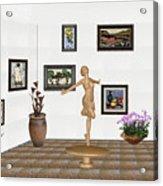 digital exhibition _ A sculpture of a dancing girl 3 Acrylic Print