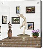 digital exhibition _ A sculpture of a dancing girl 8 Acrylic Print