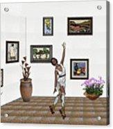Digital Exhibition _ Dancing Girl  Acrylic Print