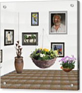 digital exhibition _ Flower basket 22 Acrylic Print
