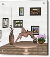 Digital Exhibition _ Girl 50 Acrylic Print