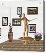 Digital Exhibition _ Guard Of The Exhibition 3 Acrylic Print