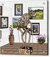 Digital Exhibition _ Modern  Statue   Of Dancing Girl Acrylic Print