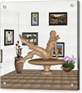 digital exhibition _ Sculpture 12 of girl  Acrylic Print