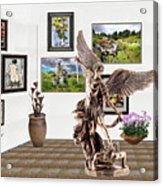digital exhibition _  sculpture of a Angels and Demons  Acrylic Print