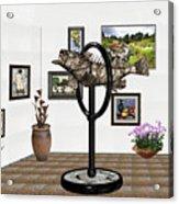 digital exhibition _ Statue  of fish  12 Acrylic Print