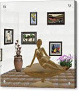 digital exhibition _ Statue of girl 49 Acrylic Print