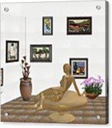 digital exhibition _ Statue of girl 52 Acrylic Print