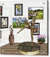 digital exhibition _ Statue of girl acrobat 35 Acrylic Print