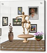 digital exhibition _ Statue of  Mother and child zombies Acrylic Print