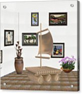 digital exhibition _ Statue raft with sails 3 Acrylic Print