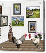 Digital Exhibition _ The World Is Narrow For Two Acrylic Print